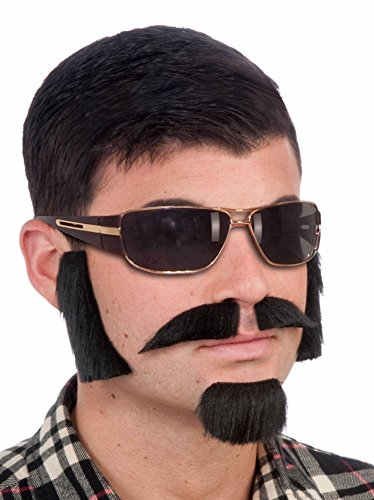 Forum Novelties Men's Facial Hair Disguise Kit, Black, One Size ()