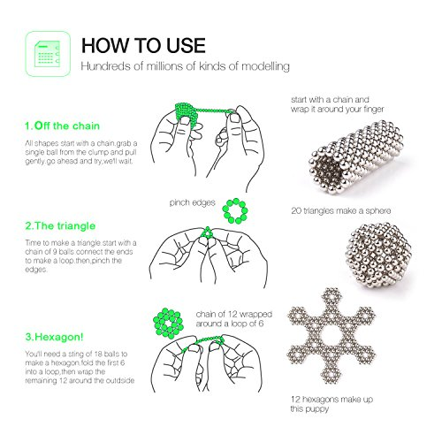 MagneBalls 5MM Magic Ball Set for Office Stress Relief |Desk Sculpture Toy Perfect for Crafts, Jewelry, Education |Fidget Cube Provides Relief for Anxiety, ADHD, Autism, Boredom (Gold) by MagneBalls (Image #6)
