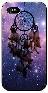 Dreamcatcher, purple nebula and stars - iPhone 5 / 5s black plastic case / Inspiration