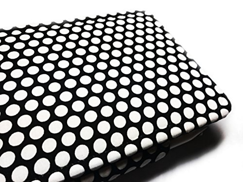 Case for AT&T Primetime Tablet Case - Multi-Angle Viewing Folio Stand Cover black white dot