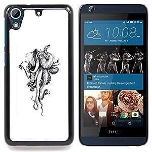 - Elephant Octopus Monster Sketch White - - Monedero pared Design Premium cuero del tir???¡¯???€????€???????????