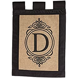 Evergreen Flag 14B2704D Garden Sub Burlap Monogram