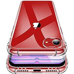 Garegce Coque iPhone SE 2020, Coque iPhone 7/8 Transparente + 3 Verre trempé Protection écran, Housse de Protection…