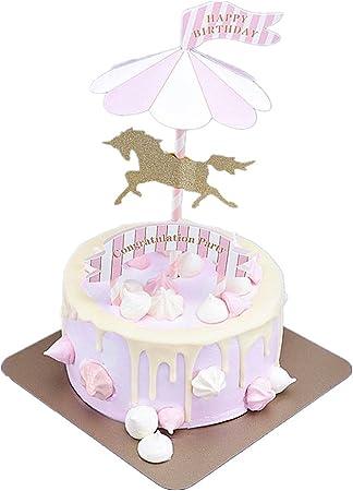 Amazon.com: Carrusel feliz para tarta de cumpleaños ...