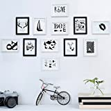 Home@Wall photo frame Solid WoodPhoto Frame Wall Sets Of 12, Hypotenuse Three-dimensional Photo Frame Wall Sets Combination Decorative Paintings Set ( Color : B )