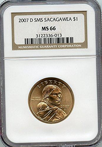 2007 D Sacagawea Dollar -SMS Dollar MS-66 NGC