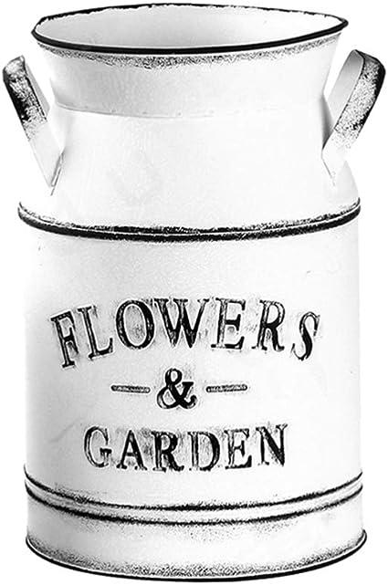 1*Muddy Hands Metall Blumentopf Vintage Blumenhalter Milchkanne Hohe Vase Eimer.