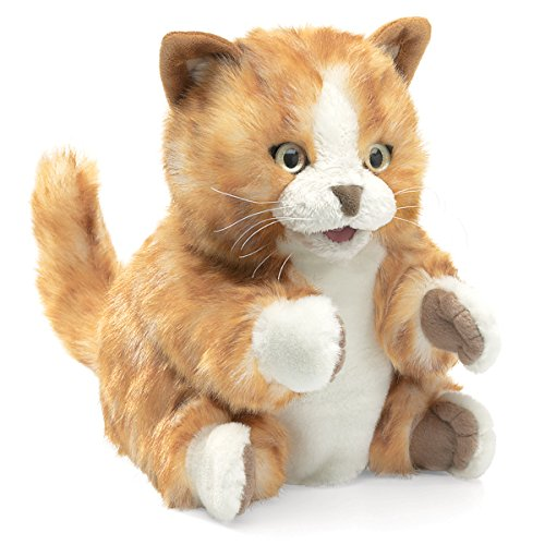 Folkmanis Orange Tabby Kitten Hand Puppet -