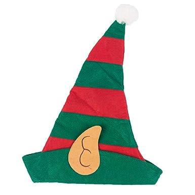 VERDE Cappello di feltro Natale Babbo Natale Adulto Unisex Natale Costume