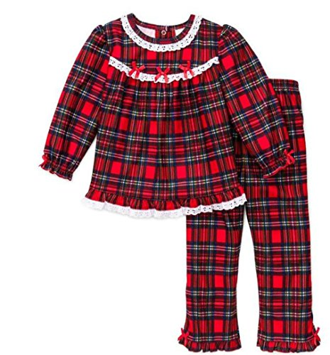 Girls Christmas Pajamas - Infant Toddler Pant Set (5)