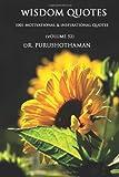 Wisdom Quotes (Volume 52), Purushothaman, 1499188234