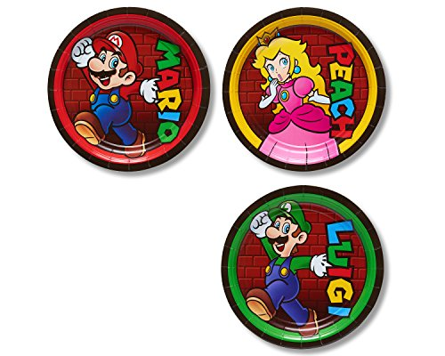 Best Price! AMERICAN GREETINGS Super Mario Paper Dessert Plates, 8-Count