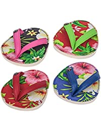 Favor Drinkwear, Flip Flop Coasters, Set of 4 (Hibiscus Hula) compare