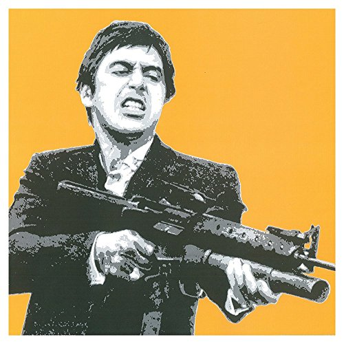 Scarface Tony Montana Shooting Gold - Pop Art Print - - Montana Pop