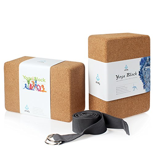 ULTRAFY Yoga Blocks Bricks, Non-poisonous, Odorless, Water-Resistant, Support Bricks with Exercise Strap for Better Positions Stretching Yogi Accessories – DiZiSports Store