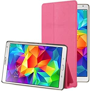 Frosted Texture Flip Leather funda case cover + Lápiz GRATIS con Holder para Samsung Galaxy Tab S 8.4/T700 (Magenta)