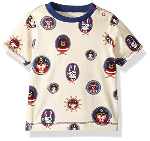 (Hatley Baby Boys Graphic Tee, Pirate Portraits 9-12 Months)