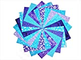 """40 5"""" Twilight/shades of Purple and Blue Charm Pack-10 different patterns/colors-4 of each"""
