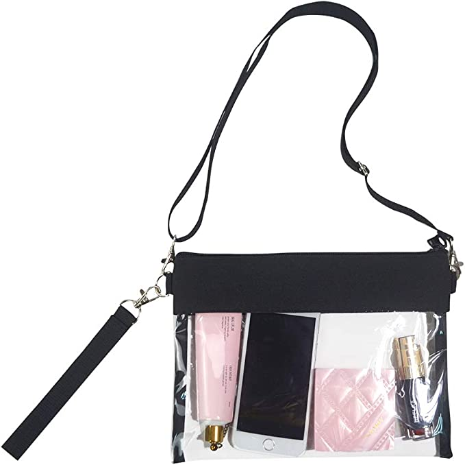 Amazon.com: Magicbags - Bolso cruzado transparente con ...