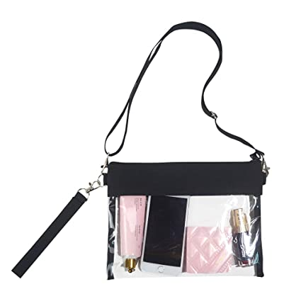 b07b2db7c53c Magicbags Clear Crossbody Purse Bag - NFL,NCAA & PGA Stadium Approved Clear  Shoulder Tote Bag with Adjustable Shoulder Strap and Wrist Strap for Work,  ...