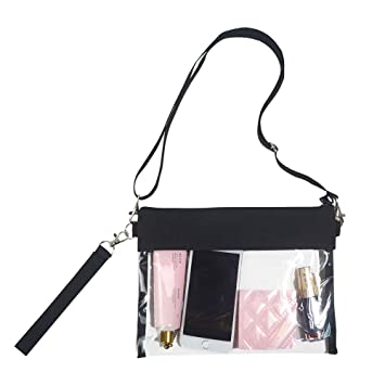 fcba52c9e351 Magicbags Clear Crossbody Purse Bag - NFL,NCAA & PGA Stadium Approved Clear  Shoulder Tote Bag with Adjustable Shoulder Strap and Wrist Strap for Work,  ...