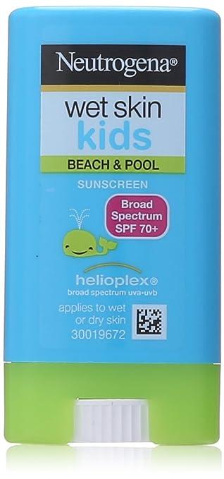 Neutrogena Wet Skin Kids Stick Sunscreen Broad Spectrum SPF 70, 0.47 Ounce