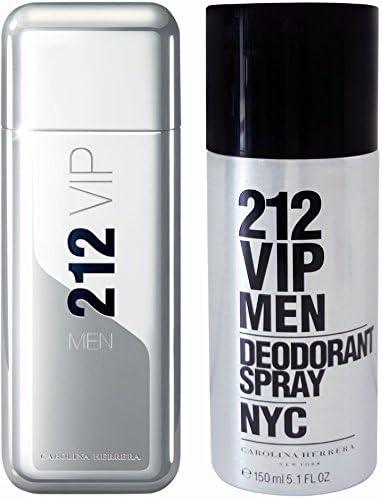 Carolina Herrera 212 Vip Men Coffret Eau de Toilette 100 ml + Deodorant aerosol 150 ml: Amazon.es: Belleza