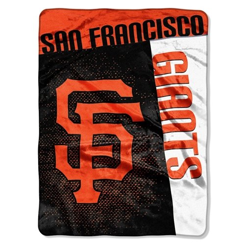 San Francisco Giants 60''x80'' Royal Plush Raschel Throw Blanket - Strike Design (Giants Plush Fleece)