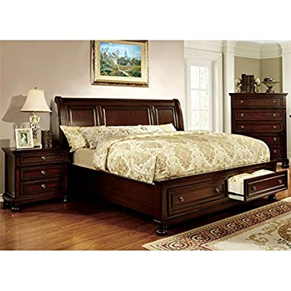 Amazon.com: Furniture of America Caiden 2 Piece King Bedroom Set in ...