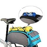 Chartsea Cycling Handbag Bicycle Storage Pannier Bike Saddle Rack Rear Seat Bag Shoulder (Blue)