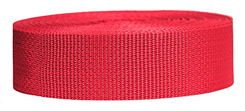 (Strapworks Lightweight Polypropylene Webbing - Poly Strapping for Outdoor DIY Gear Repair, Pet Collars, Crafts – 1.5 Inch x 25 Yards - Red)