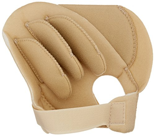 Rolyan Sof-Foam Palm Shield for Left Hand, Foam Contracture Cushion to Support Fingers, Padded Hand Protector with Finger Separators for Left Hands, Medical Gloves for Stroke, Disabled, Elderly ()