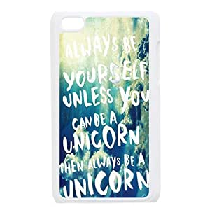 Happy Life Be Yourself Case compatible Apple iPod touch 4th Generation, Hard Cover by icecream design