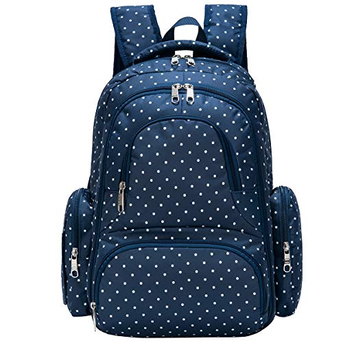 Baby Diaper Bag Smart Organizer Waterproof Travel Diaper Backpack with Changing Pad and Stroller Clips