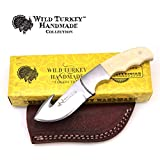 Wild Turkey Handmade Collection Full Tang Bone Handle Fixed Blade Gut Hook Skinner