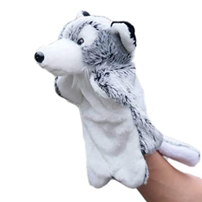 Toyvian Animal Hand Puppets Plush Animal Wolf Toys Party Favors Party Goodie Bag Fillers for Kids Children Birthday Presents: Toys & Games