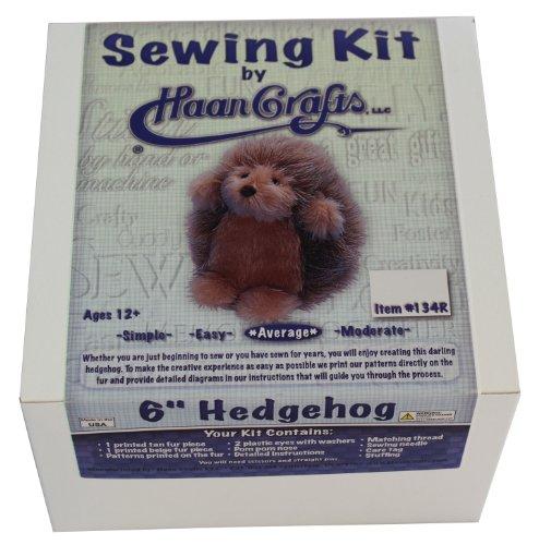 Haan Crafts Hedgehog Sewing Kit, 6-Inch