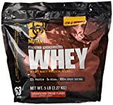 Mutant Whey – Muscle Building Whey Protein Mix with Unbelievable Great Flavors Made with A 100% 4-Whey Protein Formula Plus Enzyme Fortified – Strawberry Cream Flavor
