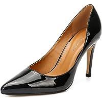 fereshte Women's Men's Slip On Stilettos High Heels Dress Pumps Shoes