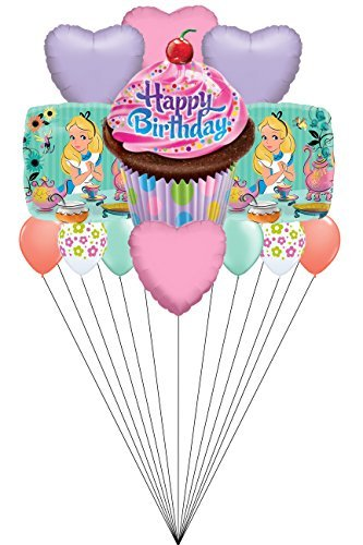 Abc Family Original Christmas Movies - Disney Alice in Wonderland 13 CT Balloon Bouquet