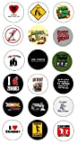 "Funny Zombie Collection of 18 One Inch (1"") Buttons / Pin / Pinback"