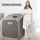 COSTWAY Portable Steam Sauna, 2L Folding Home Spa