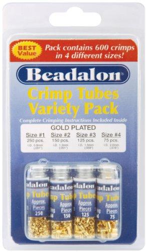Beads Variety Pack - Crimp Tube Variety Pack Sizes #1 #2 #3 #4 600/Pkg