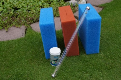 Maintenance Pack for Oase Biotec 5 Pond Filter with Bitron 15.