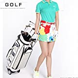 PGM Women Wheeled Golf Stand Carry Bag ---PU Golf Clubs Bag