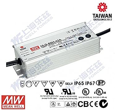 switching power supplies IP65 IP67 MeanWell LED power supply HLG-series