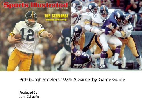 Pittsburgh Steelers 1974: A Game-by-Game Guide