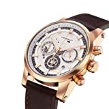 Watches for Men - Mens Watch Stainless Steel Waterproof - Mens Watches Cheap - Wrist Watches Leather - Quartz Watch Second Deal