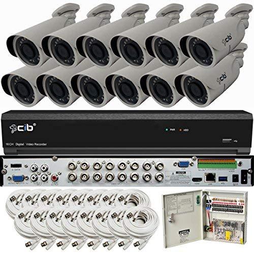 CIB Full with HD 16CH 5MP 2560x1944 (TAJ5MP16K4T56W-12KIT-W) Recording 4K HDMI 4K Surveillance System with White Black (TAJ5MP16K4T56W-12KIT-W) [並行輸入品] B07HRNCRV8, 寝ころん太くん:71c61cdc --- ero-shop-kupidon.ru