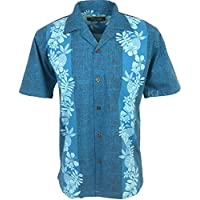 Favant Tropical Luau Beach Pineapple Panel Print Men's Hawaiian Aloha Shirt